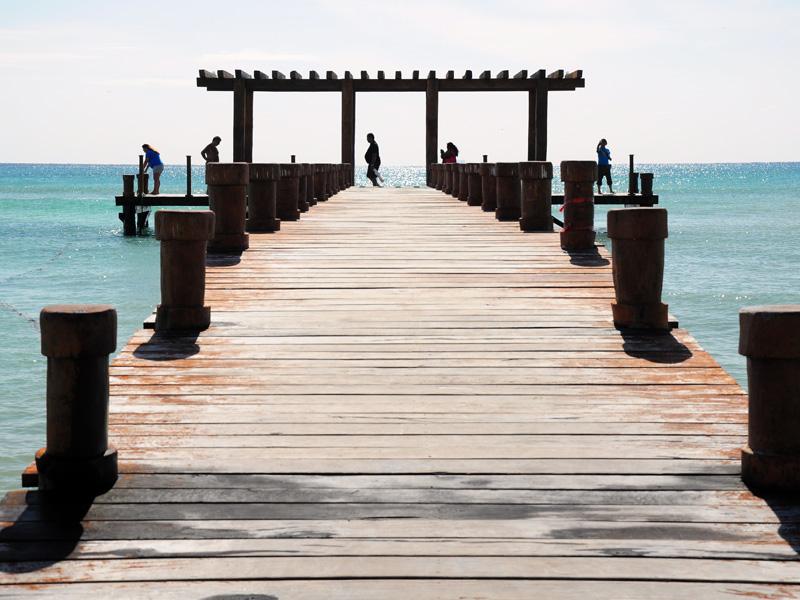 Playa del Carmen Pier in front of El Taj