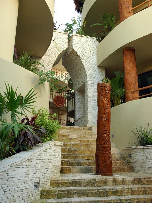 Maya Villa Entrance